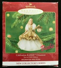2000 Hallmark Special Celebration Blonde Barbie Ornament Mib #1 First Series