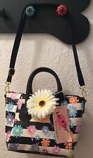 NWT Betsey Johnson Crossbody Dome Pastel Daisy Flowers Purse Handbag