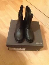 kenneth cole black leather boots size 4