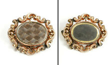 Antique Mourning Brooch (Memorial Jewelry) 10K 2-Sided Hair