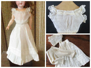Antique Doll Camisole, Knickers, Petticoat