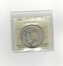 **1949**, ICCS Graded Canadian Silver Dollar **MS-66**