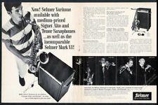 1967 Selmer Mark VI saxophone Varitone photo vintage print ad