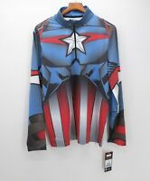 Spyder Mens XL Marvel Tech 1/4 Zip Pullover Ski Baselayer Brand New with Tags