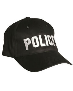 Police Black Baseball Cap Special Agent Tactical Hat 100% Cotton One Size