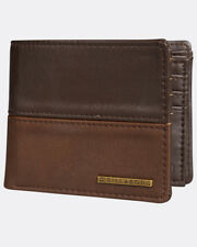BILLABONG MENS WALLET.NEW FIFTY50 BROWN FAUX LEATHER CARD COIN NOTE PURSE 8S 08
