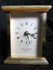 Vintage London Clock Co Brass & Onyx Carriage Clock Quartz