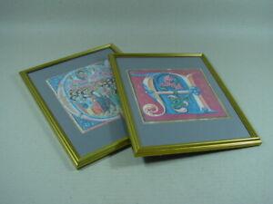 2 Bilderrahmen ca. 26 x 32 cm mit Goldleiste. Holzrahmen, Rahmen, Fotorahmen.