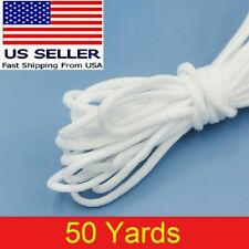 """50 yard 1/8"""" Round Elastic Band Rope Cord Ear Hanging Tape Sewing For Face Masks"""