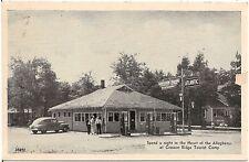 Cresson Ridge Tourist Camp in Cresson PA Postcard Atlantic Gas Pumps