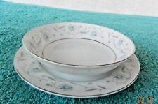 """English Garden Fruit Dessert Bowl 5 1/2"""" & Dessert Plate 6 1/4"""" ~ # 1221 Japan"""