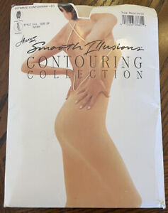 Hanes Smooth Illusions Contouring Collection Pantyhose sz EF Ivory Shaping Slim