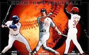 New Costacos MLB Sammy Sosa Mark McGwire Ken Griffey Jr. Homerun Central Poster