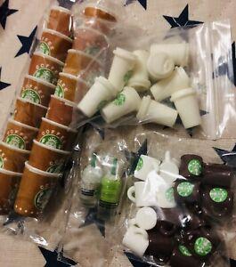 Lotto Misto 41 Miniature Starbucks Case Delle Bambole Orecchini Fai Da Te