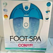Conair Foot Spa/Pedicure Spa with Bubbles Massage and Heat Pumice Stone Attached
