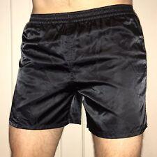 Vtg 80s Black HIGH 5 Shiny glanz Wet Look Nylon Soccer Shorts RETRO Mens SMALL