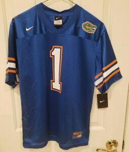 NWT Nike Boys Large 16/18 Blue University Florida Gators Blue #1 Jersey $46