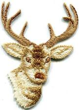 Deer buck embroidered applique iron-on patch new S-1305