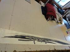 "SEA RAY VINYL DECAL S2804701 / 2028785 SILVER / BLACK 113 7/8"" X 7 5/8"" BOAT"