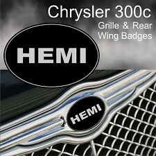 Chrysler 300c HEMI Grille & Rear Wing Badge Emblems
