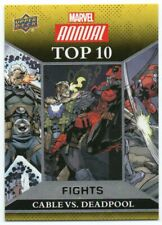 2017 Marvel Annual 2016 Top 10 Fights TF4 Cable/Deadpool