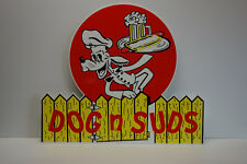 DOG N SUDS DIE CUT SIGN. VERY NICE NOS SIGN! ARTICULATE DETAIL! GREAT COLORS!