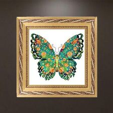DIY 5D Diamond Embroidery Painting Green Butterfly Cross Stitch Craft Home Decor