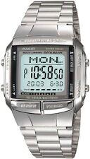 New CASIO Digital Watch Stainless Silver DB-360-1AJF DATA BANK Men's Japan