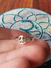 GypsyLee Jewels Solid Sterling 925 Silver Peace Symbol Toe Ring Bohemian