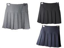 Ladies Children Girls Kids Pleated Back to School Britini Side Zip Uniform Skirt