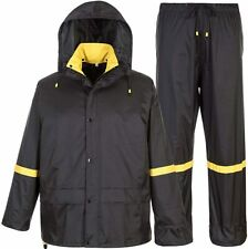 Classic Rain Suits for Men Breathable Rain Gear for Waterproof Work, Hooded Coat