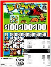JAR TICKETS 4560 3's DOGGIN' IT  Bingo Pull Tab  (3-$100)