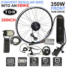 """26"""" 350W Motor Front Electric Bicycle Conversion EBike LCD Meter 36V Battery Kit"""