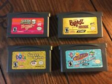 Lot of 4 GBA Games Bratz Dora (Nintendo Gameboy Advance) - Tested