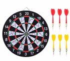 Indoor 15inch Double Target Dart Magnetic Flocking Dart Board Dartboard Game New
