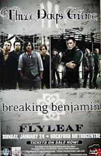THREE DAYS GRACE / BREAKING BENJAMIN / FLYLEAF 2012 ROCKFORD CONCERT TOUR POSTER