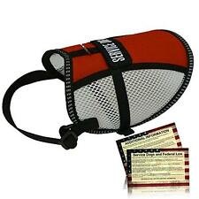 Flow-Tec Mesh Service Dog Vest with 50 FREE Service Dog ADA Info Cards - Sizes 1