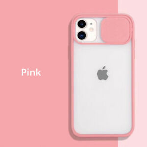 For iPhone 13 12 11 Pro XS Max SE2 XR 8 7 Slide Camera Protector TPU Case Cover
