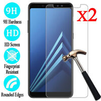 2Pcs 9H Thin Tempered Glass Screen Protector Film For Samsung Galaxy A7 A5 S8 S9