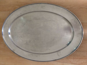 HEAVY DUTY STAINLESS STEEL SERVING TRAY LENGTH 550mm WIDTH 360mm RESTAURANT