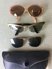 Lot  de 3 paires de  Lunettes de Soleil  Vintage  + 1étui