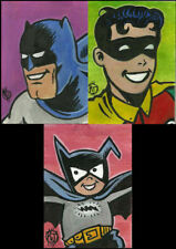 Batman '66 Robin Batmite Original Art Sketch Cards DC Comics ACEO 1/1 Painting