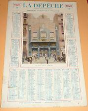 Calendrier 1928 la depeche journal toulouse
