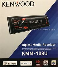 NEW KENWOOD KMM-108U Digital Media Car Stereo Receiver, Single DIN