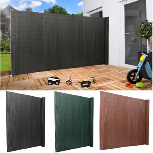 PVC Grey/Bambo Slat Screening Roll Garden Fencing Panel Border Privacy Fence 6ft