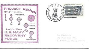 PONCHATOULA (AO-148) 18 Dec 1965 Locy Type 2(n+)(USS) Gemini 7 Pacific Fleet