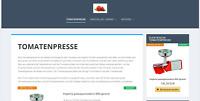 Tomatenpresse.de - Webprojekt / Webseite / Affiliate Nischenseite - TOP Google