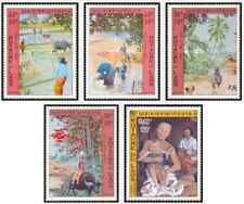 Timbres Arts Tableaux Laos PA96/100 ** lot 28854