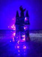 "Blue Sky Clayworks Halloween Hotel Of Horrors Dracula Black Cat JOL 10"" VILLAGE"