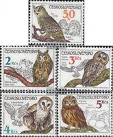 Tschechoslowakei 2875-2879 (kompl.Ausg.) postfrisch 1986 Naturschutz: Vögel